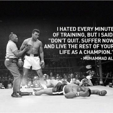 Suffer Now, Live Forever As A Champion.