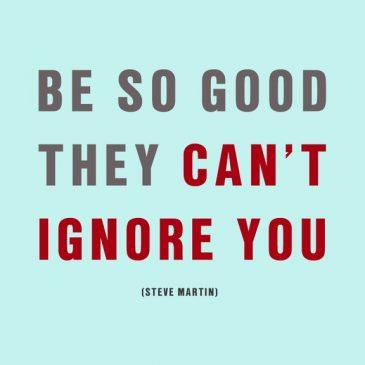 Be so good…