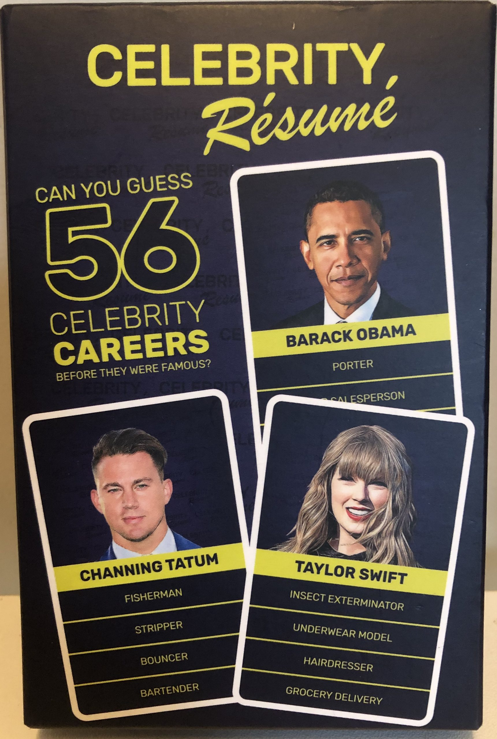 Celebrity CV game